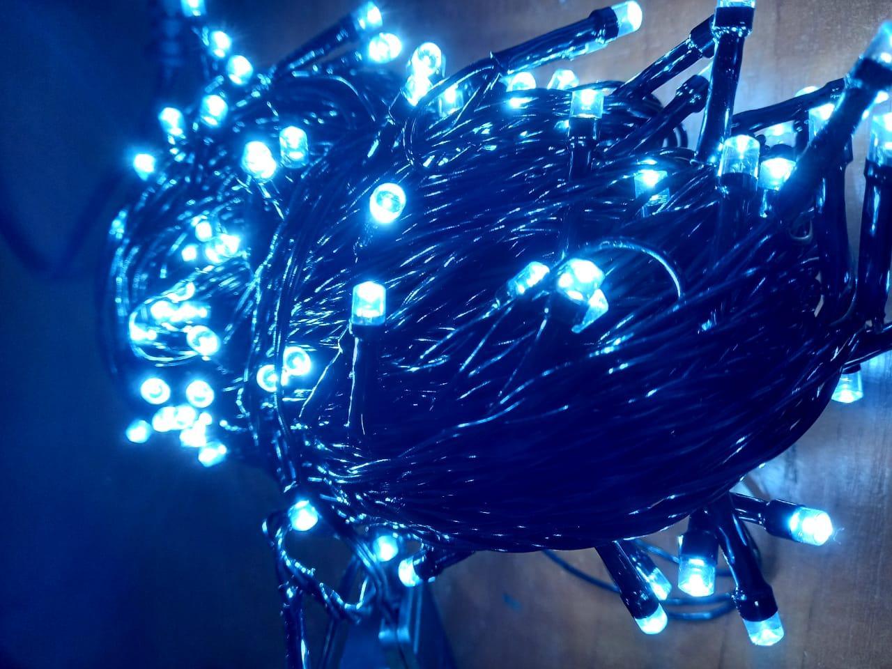 """Гирлянда """"Классика"""", черный провод, цвет холодный, 30м"""