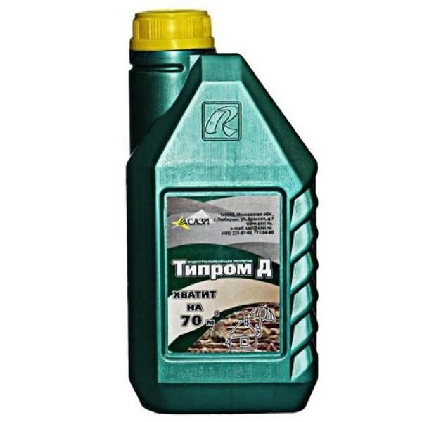Жидкость гидрофобизирующая (гидрофобизатор) Типром Д 1 л СТО 070-32478306-2014