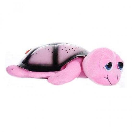 Уценка (товар с небольшим дефектом) Ночник проектор звездного неба Черепаха (розовая)
