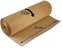 Крафт бумага в мини рулоне 65 гр 64 см 100 метров