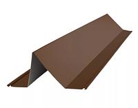 Планка снегозадержателя 95х65х2000 мм Матовый Коричневый RAL 8017