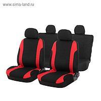 Авточехлы TORSO Premium универсальные, 9 предметов, чёрно-красный AV-17