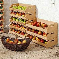 Рекламное оборудование овощные деревянные ящики для магазина деревянные стеллажи