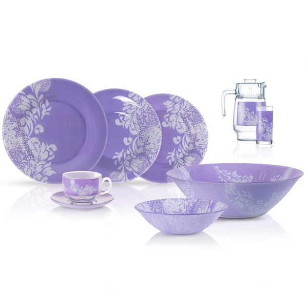 Столовый сервиз Luminarc Piume Violet 46 предметов на 6 персон