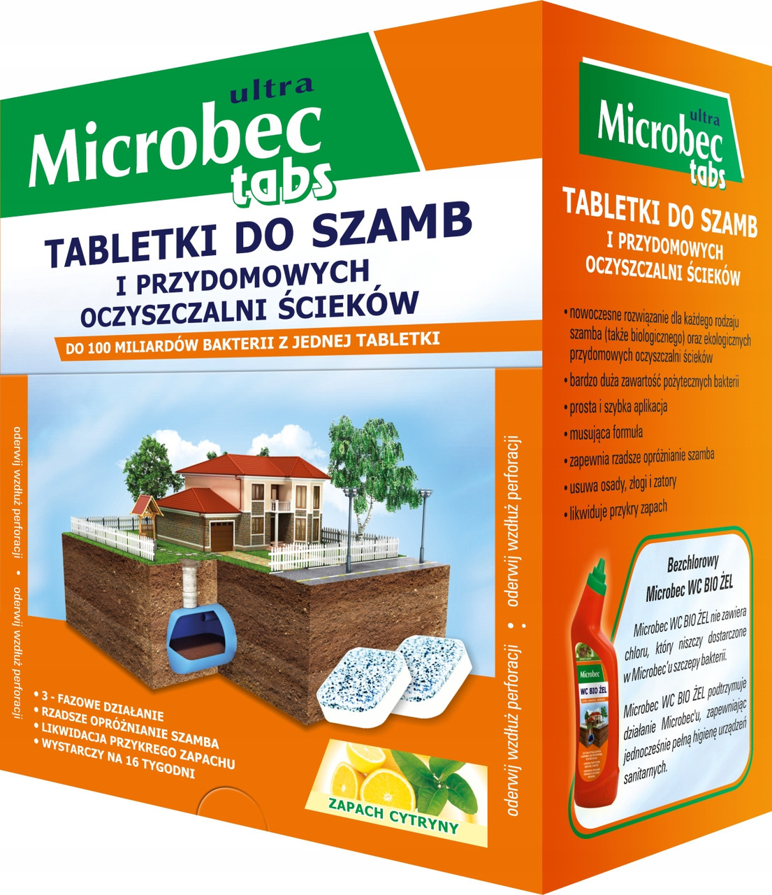 Таблетки для септиков, выгребных ям и дачных туалетов - Microbec tabs