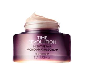 Антивозрастной ночной крем с пробиотиками, Missha Time Revolution Night Repair Probio Ampoule Cream