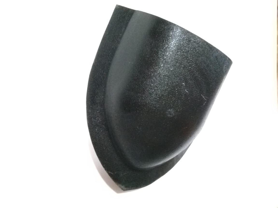 Заглушка конька круглого Матовый Чёрный RAL 9005
