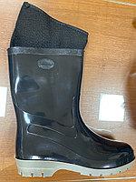 Женские зимние резиновые сапоги с чулками, фото 1
