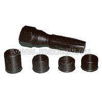 Метчик для восстановления свечной резьбы, набор ремонтных вставок (футорок), 5 предметов МАСТАК 103-12005