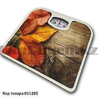 Механические напольные весы до 130 кг с листьями