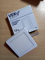 Панель светодиодная внешняя квадратная 12 W/ VEK electric
