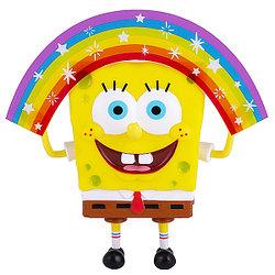SpongeBob Спанч Боб радужный (мем коллекция), 20 см, пластиковый