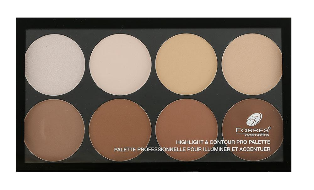 Палетка для контуринга Farres cosmetics Highlight & Contour Pro Palette