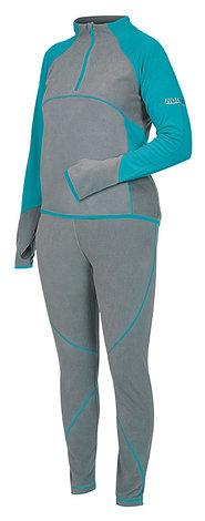 Костюм флисовый женский (термобелье) Norfin PERFORMANCE DEEP BLUE, размер XS, фото 2
