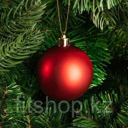 Большие новогодние шары красного цвета  Диаметр 15 см