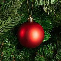 Большие новогодние шары красного цвета  Диаметр 15 см, фото 1