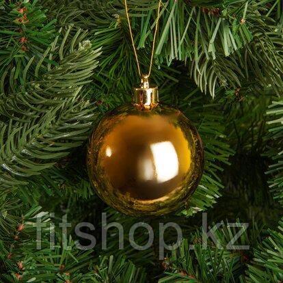 Большие новогодние шары золотого  цвета  Диаметр 15 см