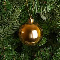 Большие новогодние шары золотого  цвета  Диаметр 15 см, фото 1