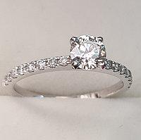 Сертификат GIA 0,70Сt I1/J VG-Cut Золотое кольцо с бриллиантом, фото 1