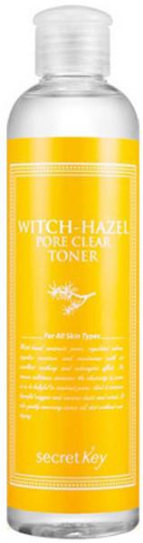 Тонер для очищения пор с экстрактом гамамелиса Secret Key Witchhazel Pore Clear Toner