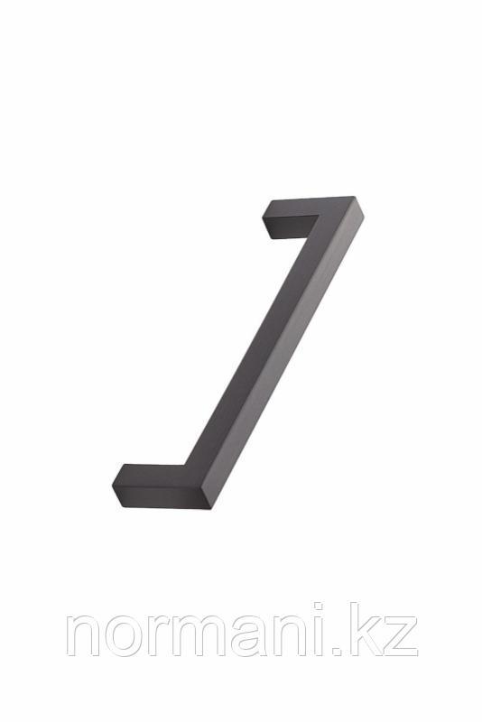 Мебельная ручка скоба, замак, размер посадки 128мм, отделка черный шлифованный