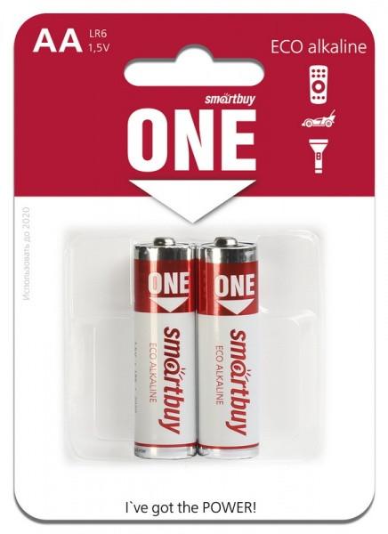 Батарейка алкалиновая Smartbuy ONE LR6/2B (24/240) Eco