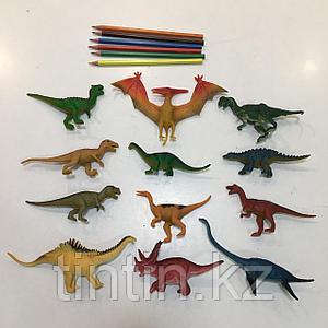 Набор из 12 резиновых динозавров