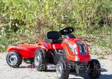 Трактор педальный Smoby XL с прицепом, красный - фото 1