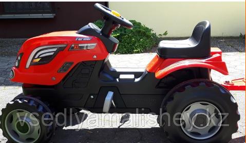 Трактор педальный Smoby XL с прицепом, красный - фото 3