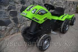 Трактор педальный Smoby XL с прицепом, зеленый - фото 4