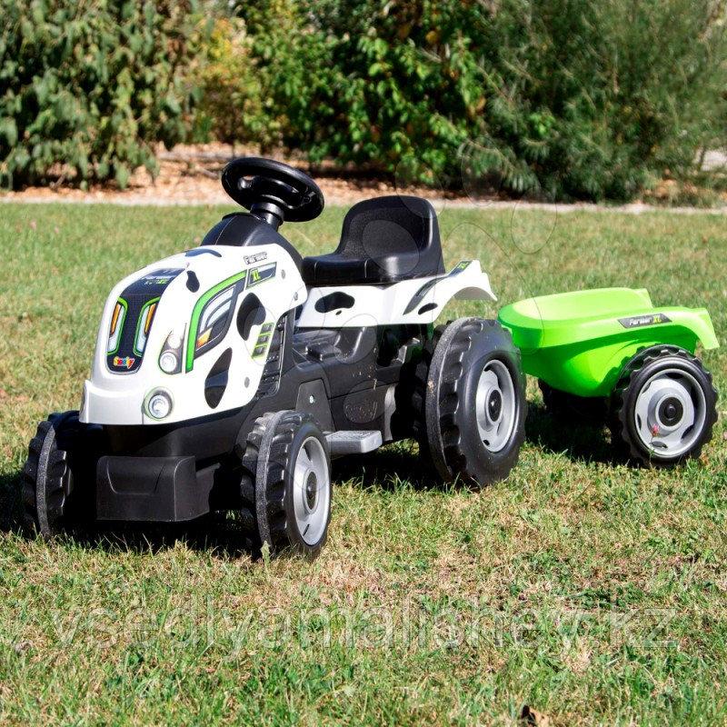 Трактор педальный Smoby XL с прицепом, Коровка - фото 2