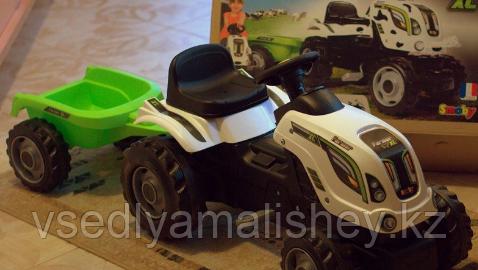 Трактор педальный Smoby XL с прицепом, Коровка - фото 3