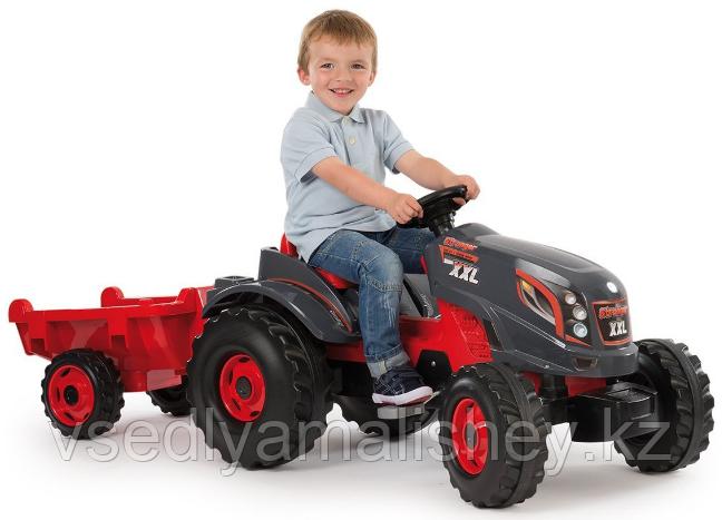 Трактор педальный XXL с прицепом - фото 1