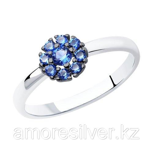 Кольцо SOKOLOV серебро с родием, фианит  94011711