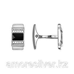 Запонки SOKOLOV серебро с родием, эмаль фианит  94160034