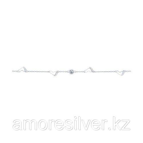 Браслет SOKOLOV серебро с родием, фианит  94050351