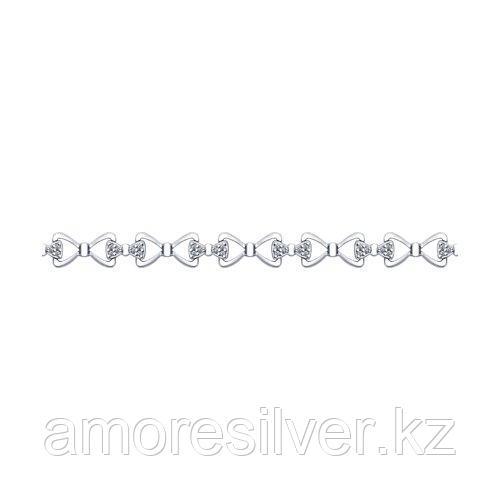 Браслет SOKOLOV серебро с родием, фианит  94050382 размеры - 19