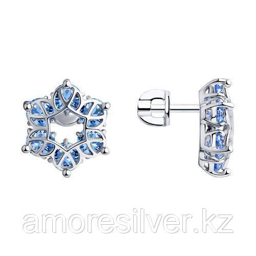 Серьги SOKOLOV серебро с родием, фианит , символы 94023925