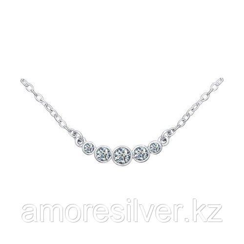 Колье SOKOLOV серебро с родием, фианит  94070045