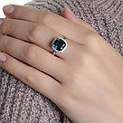 "Кольцо TEOSA серебро с родием, кварц синт., ""halo"" 1100984-04295 размеры - 19, фото 2"