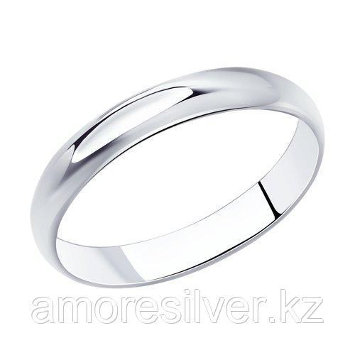 Обручальное кольцо из серебра  SOKOLOV 94110002 размеры - 16 16,5 17 17,5 18 18,5 19 19,5 20 20,5 21 21,5 22