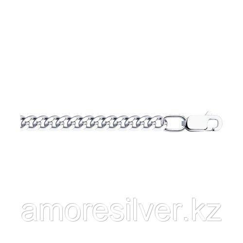 Цепь SOKOLOV серебро с родием, без вставок, панцирная 968021006 размеры - 40 45 50 65