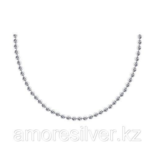 Колье SOKOLOV серебро с родием, без вставок 94074447 размеры - 40 45 50 55