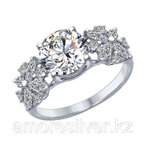 Кольцо из серебра с фианитами    SOKOLOV 94012395 размеры - 17 17,5 18 18,5 19 19,5 20