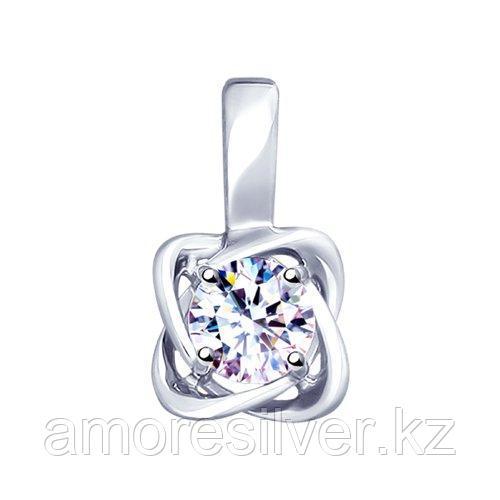 Подвеска SOKOLOV серебро с родием, фианит  94032138