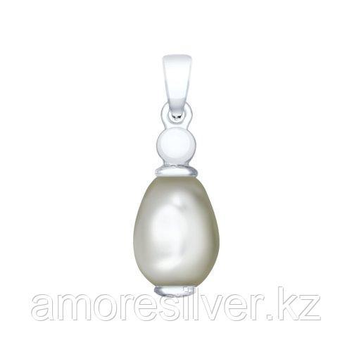 Подвеска SOKOLOV серебро с родием, жемчуг swarovski синт. ,  94032205