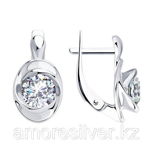 Серьги из серебра с фианитами    SOKOLOV 94023435