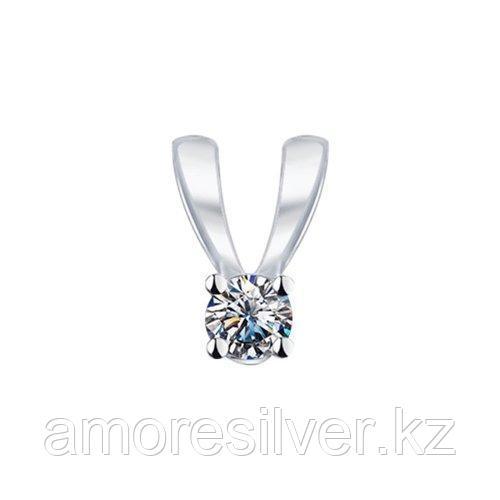 Подвеска SOKOLOV серебро с родием, фианит swarovski  89030005