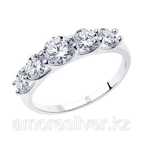 Кольцо из серебра со Swarovski Zirconia    SOKOLOV 89010041 размеры - 16,5 17 17,5 18 19