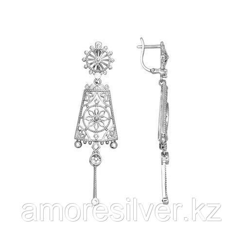 Серьги SOKOLOV серебро с родием, фианит  94021246
